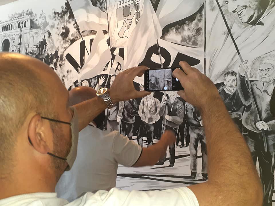 Mural militantes peronistas en Madryn