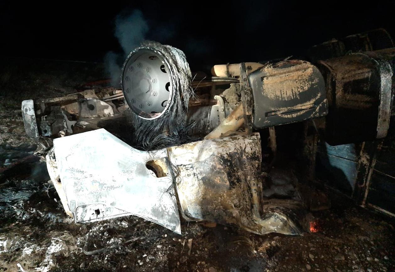 Camionero murió carbonizado en la Ruta 3