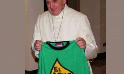 El Papa respalda la lucha para defender el agua