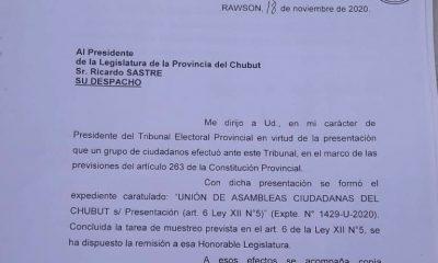Iniciativa Popular ingresada a la Legislatura