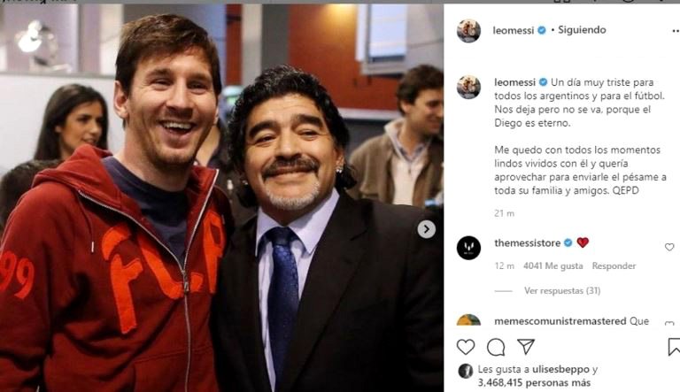 Messi Diego es eterno