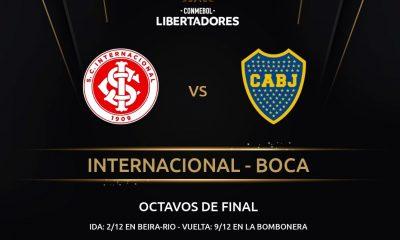 Inter-Boca serie Libertadores postergada