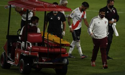 Milton Casco sale lesionado en River