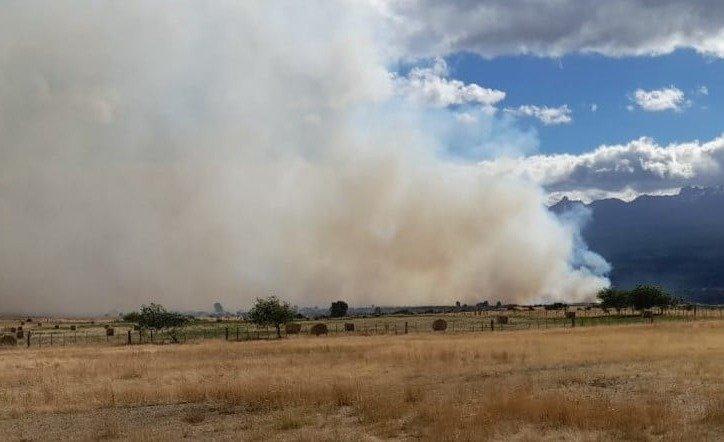 el incendio forestal/rural