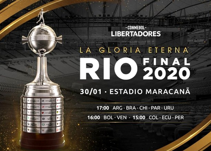 Libertadores horario final Maracaná
