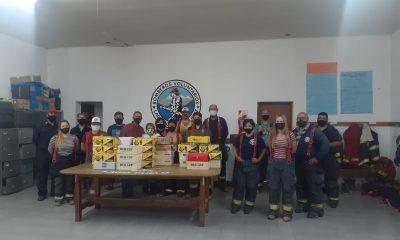 Trelew donó borseguies a los Bomberos Voluntarios de Lago Puelo