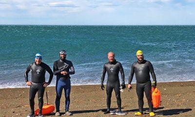 Los nadadores que homenajearan a los tripulantes del ARA San Juan