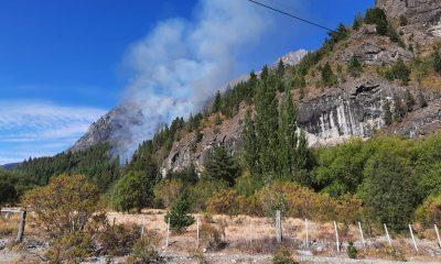 Incendio forestal en la zona de El Pedregoso