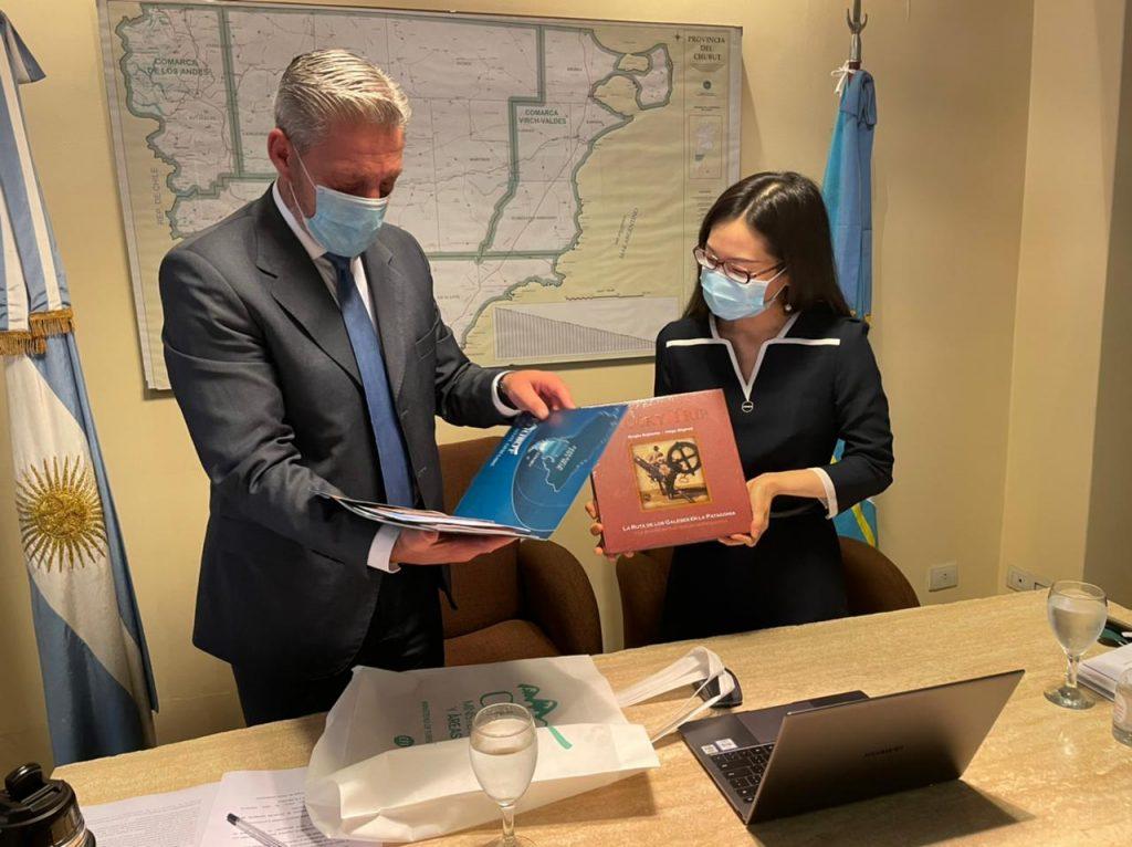 Arcioni firmó una carta intención con la compañía China Gezhouba para la construcción del Parque Eólico El Escorial