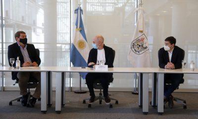 Biss rubricó un convenio con Horacio Rodríguez Larreta