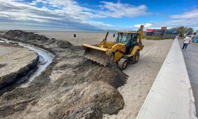 Obras para optimizar el sistema pluvial de Madryn