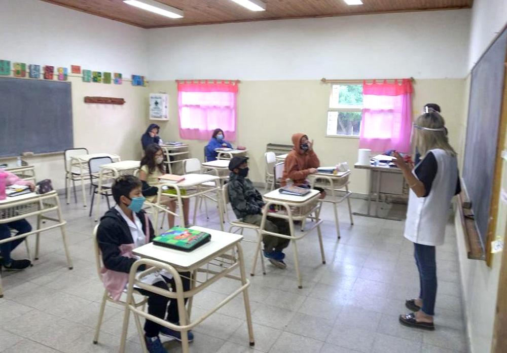 Vuelven las clases presenciales en Chubut