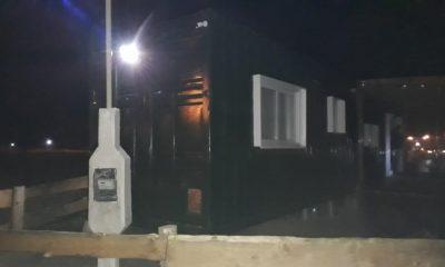 Fiesta clandestina en un container en Trevelin