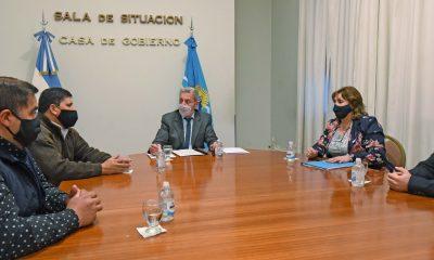 Reunió de Arcioni con jefes comunales de la Meseta