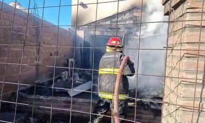 Murieron dos menores en un incendio en Caleta Olivia