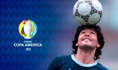 Homenaje a Diego en la Copa América
