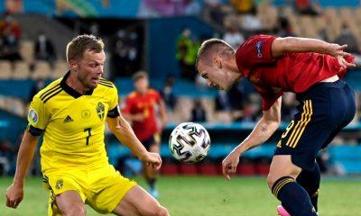 España empató con Suecia en la Eurocopa