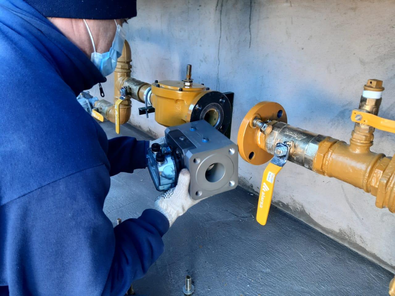 Obra de gas en la Escuela N° 151 de Trelew