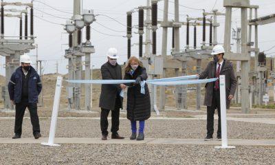 Inauguraron la nueva línea de alta tensión entre Pico Truncado y Caleta Olivia