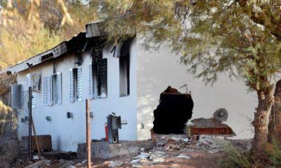 Explosión de una escuela rural en Neuquén