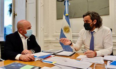 Gustavo Sastre con Santiago Cafiero