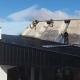 Se voló el techo del Banco del Chubut en Esquel