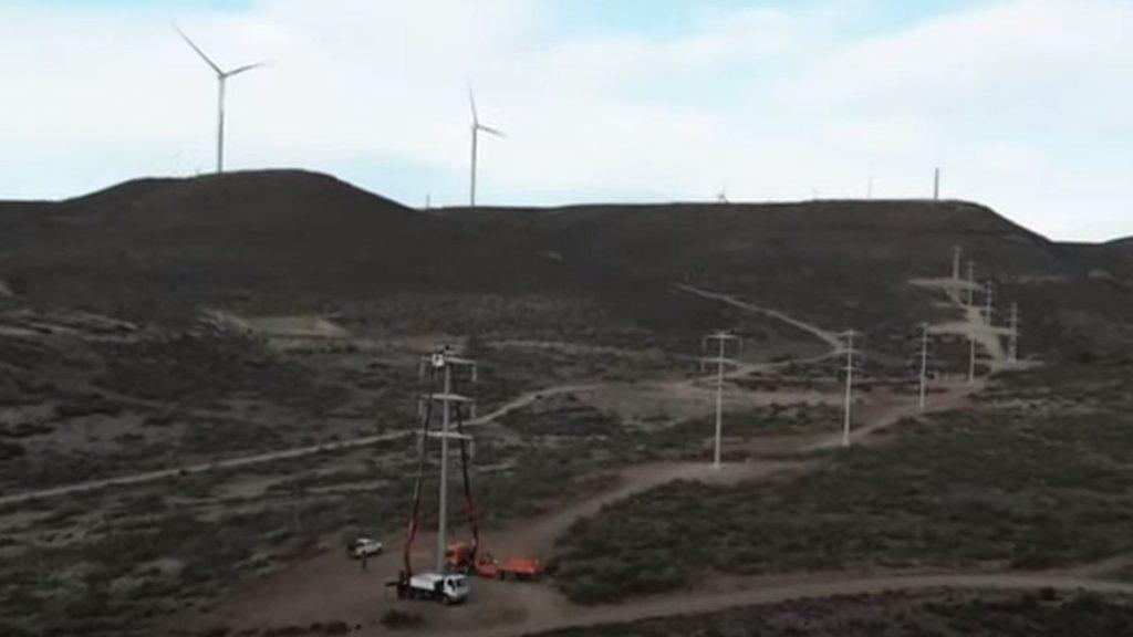 Nueva línea de alta tensión entre Pico Truncado y Caleta Olivia