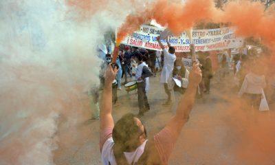 Trabajadores de la Salud marcharon en Viedma