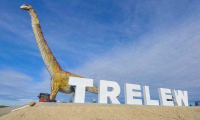 Nuevo cartel de bienvenida Trelew
