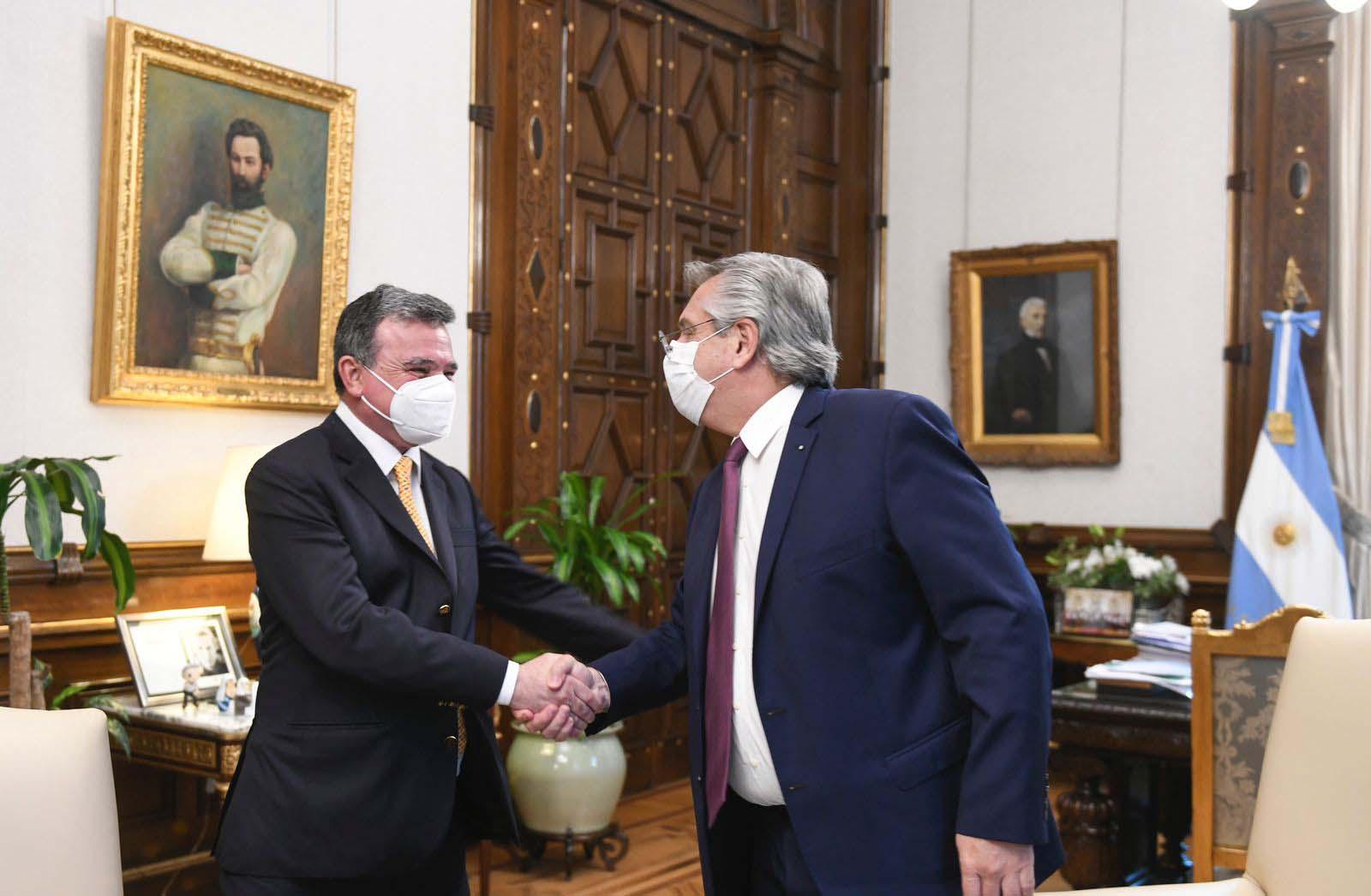 CEO de Aluar con Fernández