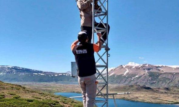 Estación de monitoreo volcánico en Neuquén