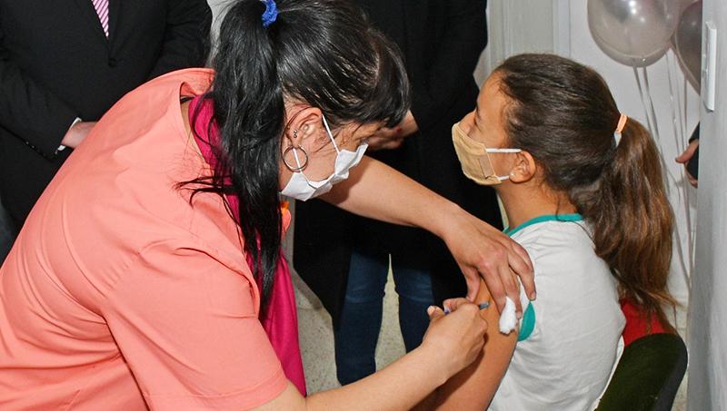 Vacunación pediátrica en La Pampa