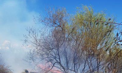 Incendio de pastizales en Trevelin