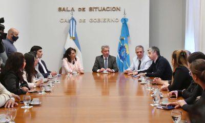 Reunión de Arcioni con jefes comunales