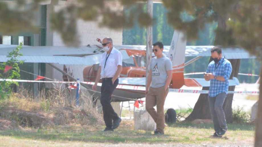 Una avioneta chocó contra una pared del Aeroclub de Neuquén